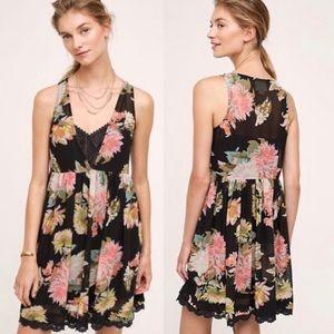Anthropologie Maeve Violeta Floral Dress Size L